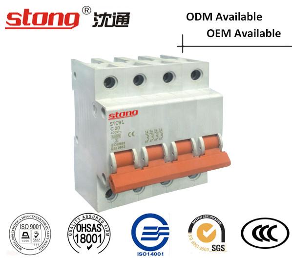 Stcb-1 New Product Vacuum Mini Circuit Breaker MCB 1p
