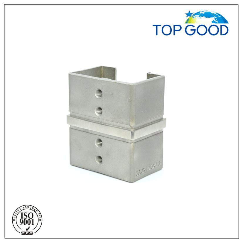 Stainless Steel Corner Horizontal Slot Tube Connector (53160)