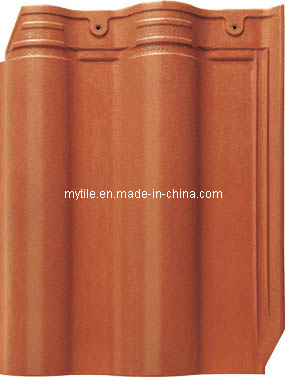 Rose Red Interlocked Ceramic Roof Tile (MY4000)