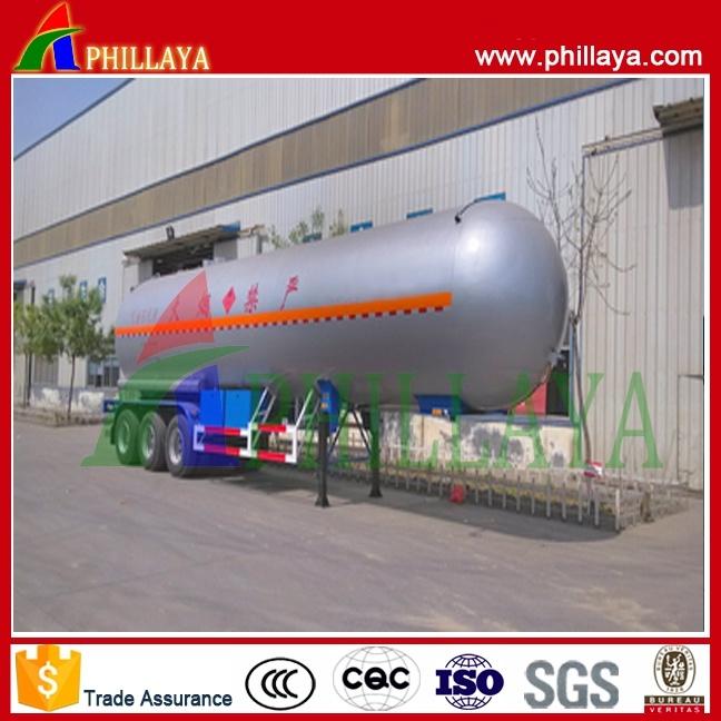 Tri-Axles Capacity 35-60cbm Semi Trailer Asphalt Bitumen Heating Tank