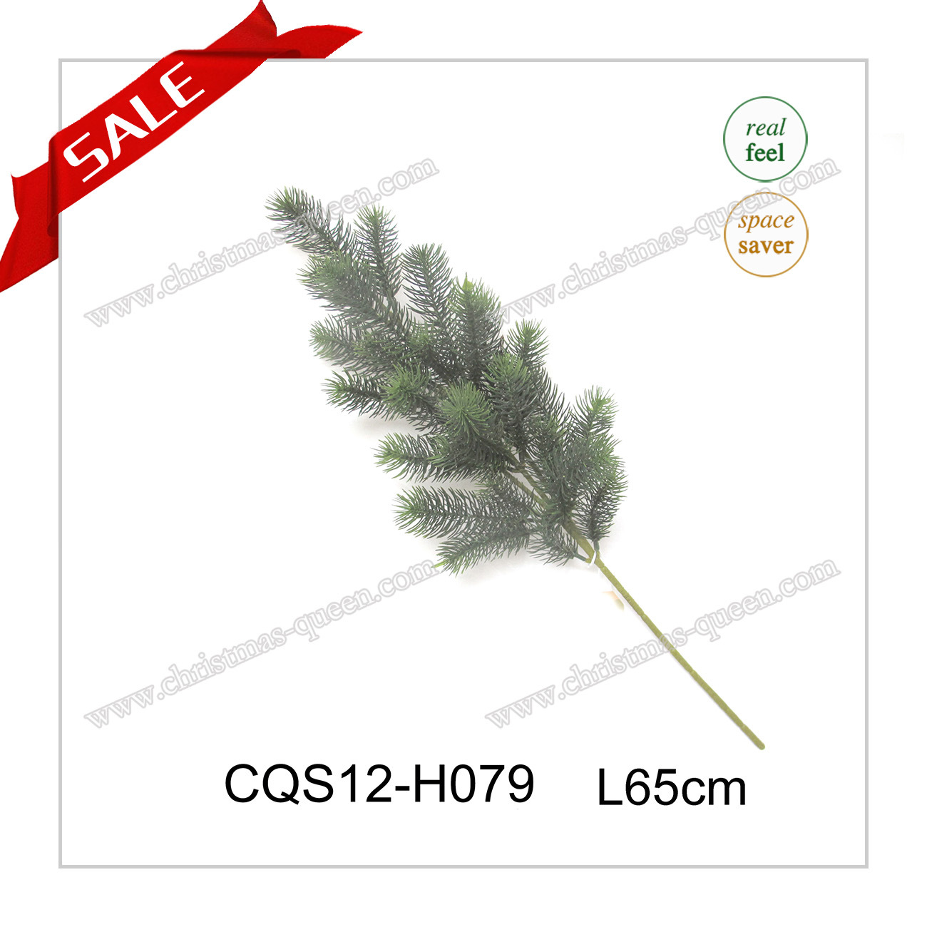 Real Feel Christmas Outdoor Plastic Decoration Craft Pine Artificial Branches Gift Flower 35-110cm
