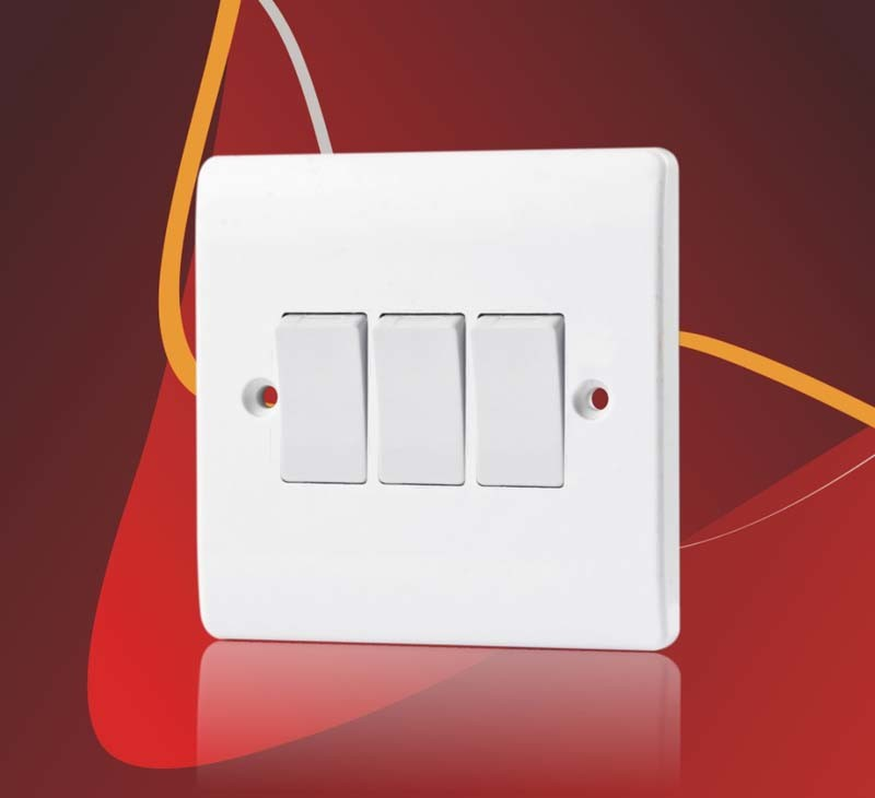 BS 10A 4 Gang 1 Way Electric Wall Switch for Home