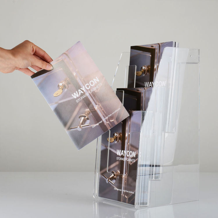 Desktop or Wall Mounted Acrylic Brochure Holder
