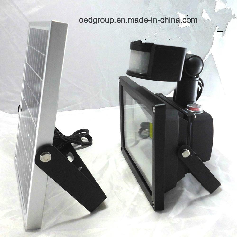 Solar Power LED Flood Light with PIR Sensor Outdoor Lighting