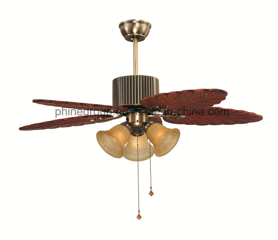 Phine Ceiling Fan with E26/E27 Lamp Holder