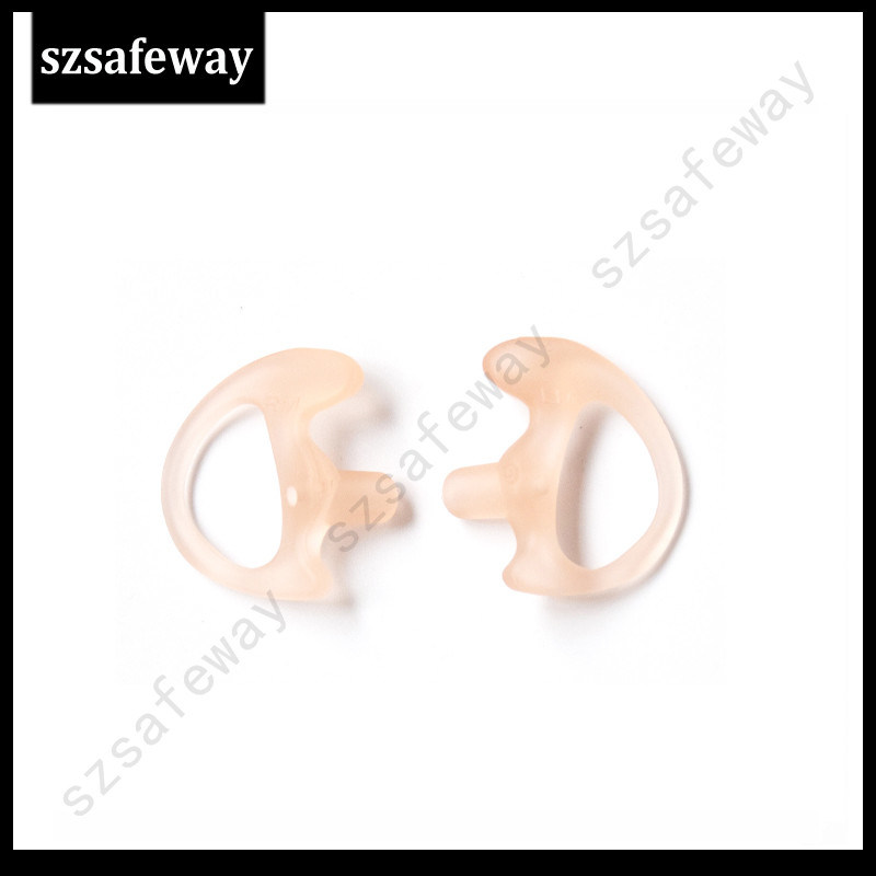 Comfortable Silicone Ear Insert for Motorola Surveillace Kit Earpiece