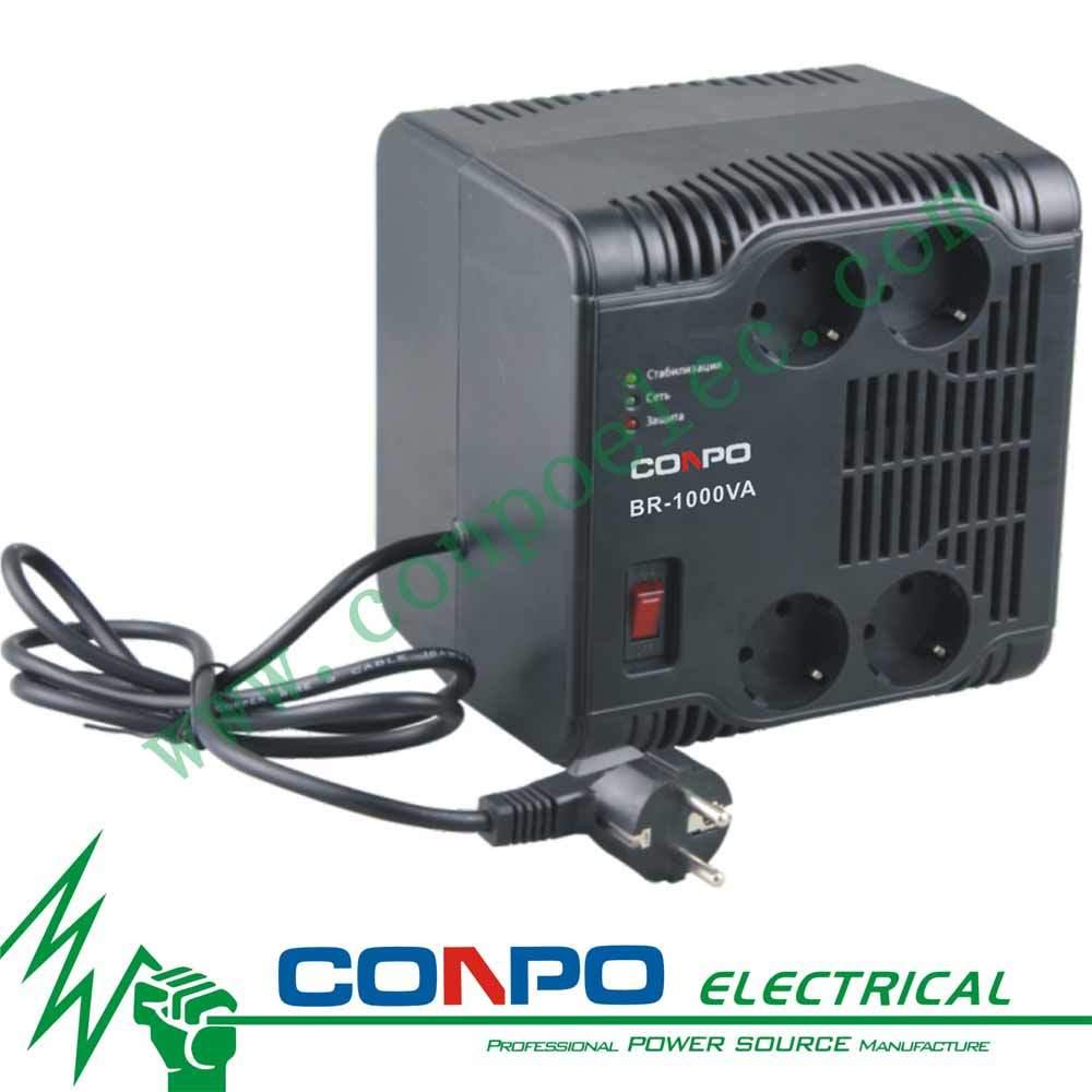 Br-350va/500va/600va/1000va/1500va/2000va Relay Euro Socket Automatic Voltage Regulator/Stabilizer