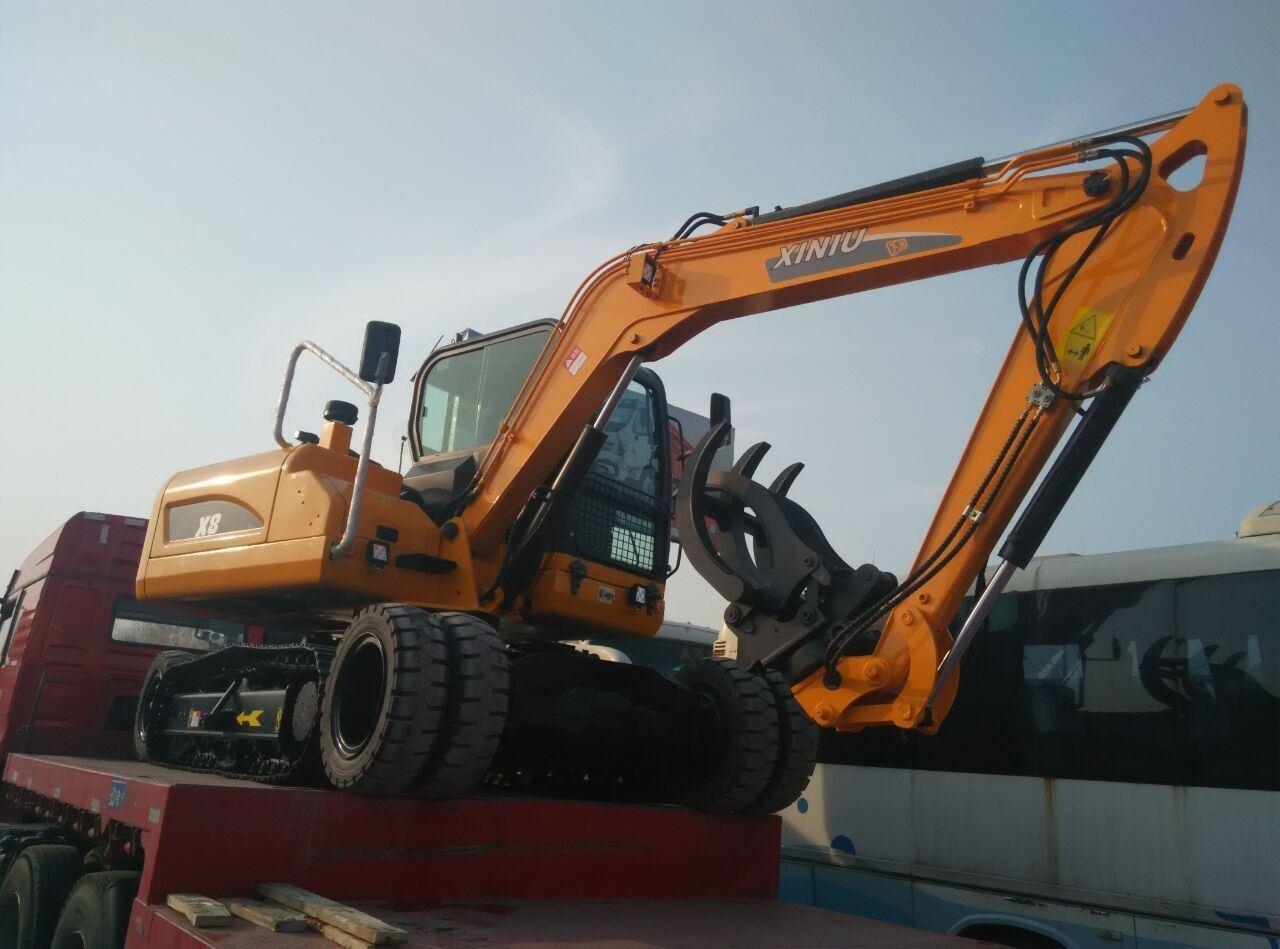 World Design Excavator X8, 8ton, 0.3 Bucket, Wheel and Crawler Excavator