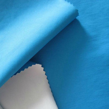 228t Nylon Taslon Fabric with PU Milky Coating