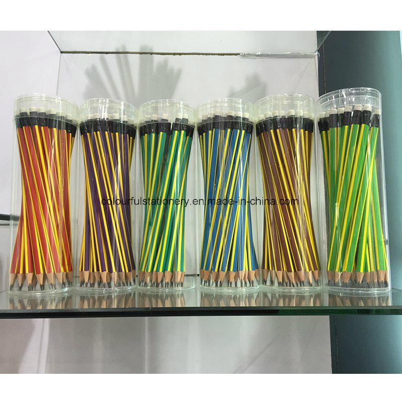 Hexagonal Hb Wooden Pencils with Eraser