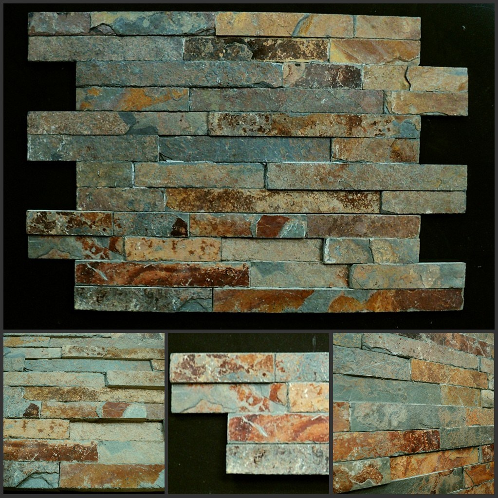 Rusty Slate Stack Stone Veneer / Ledgestone / Cultured Stone Wall Tile
