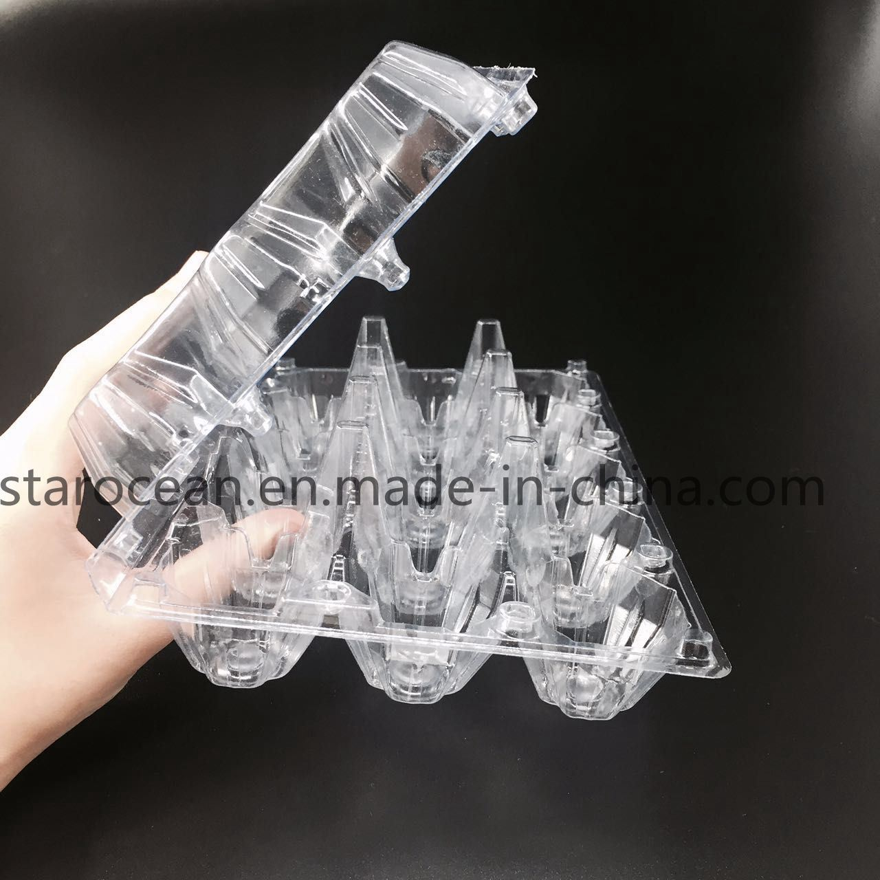 Clamshell Egg Tray Plastic PVC/PP Packaging