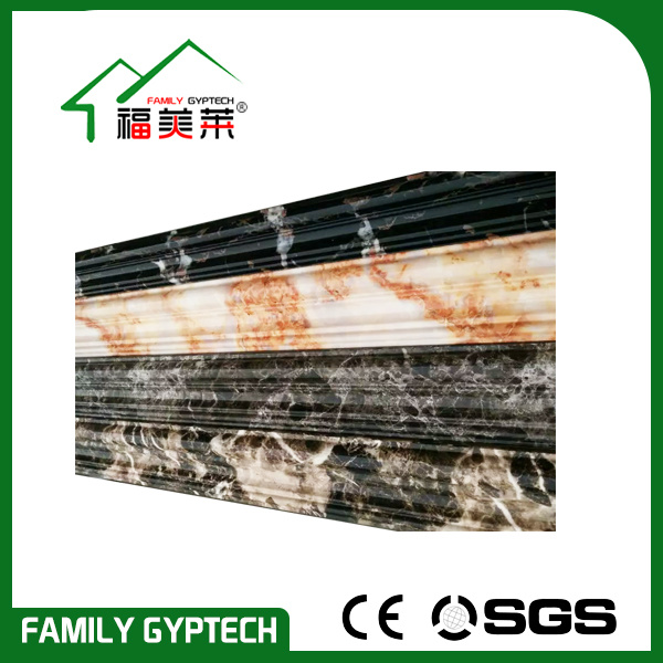 Marble and Wood Color PVC Cornice for Wall Decoration