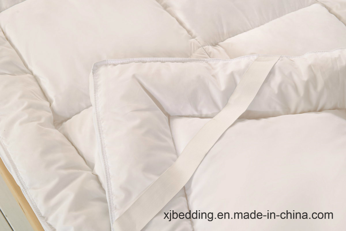 Microfiber Fabric Duck Feather Mattress Topper Bed Cover