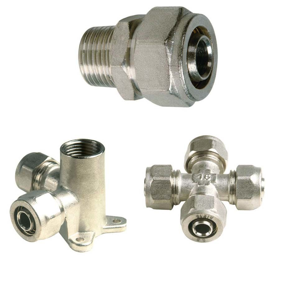 China compression screw brass fitting connector hose joint