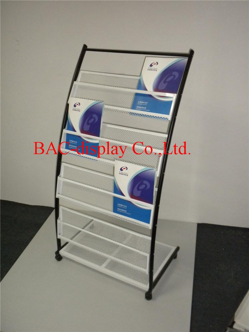 Factory Direct Supply White Powder-Coated Wire Mesh Bookshelf