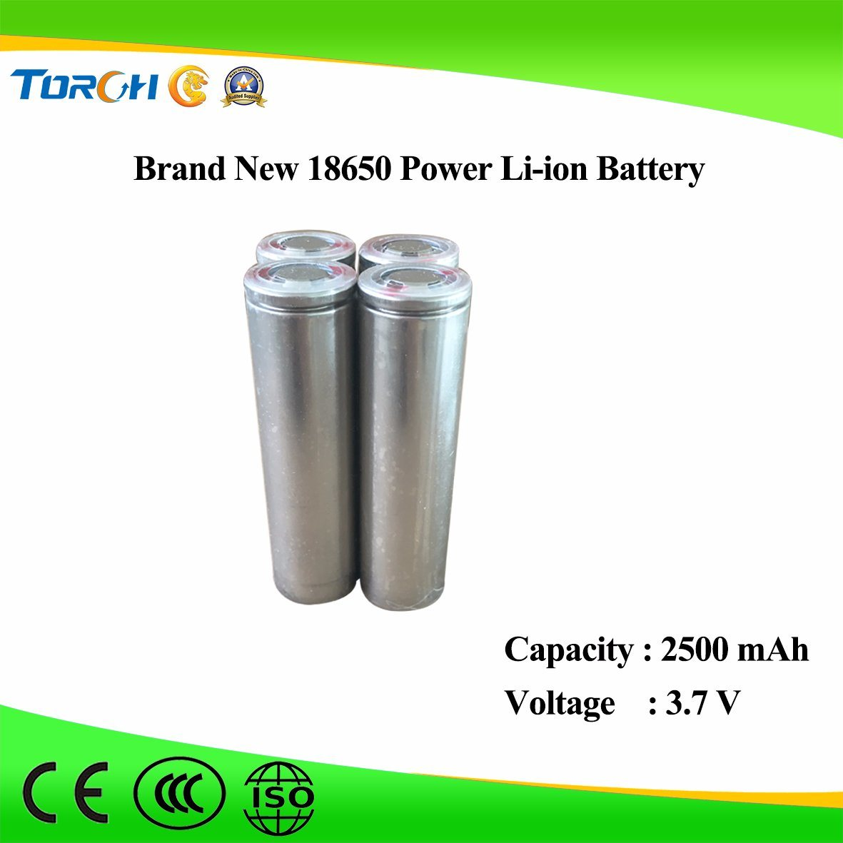 Battery Supplier 18650 Battery Lithium Battery Chargable Power Battery