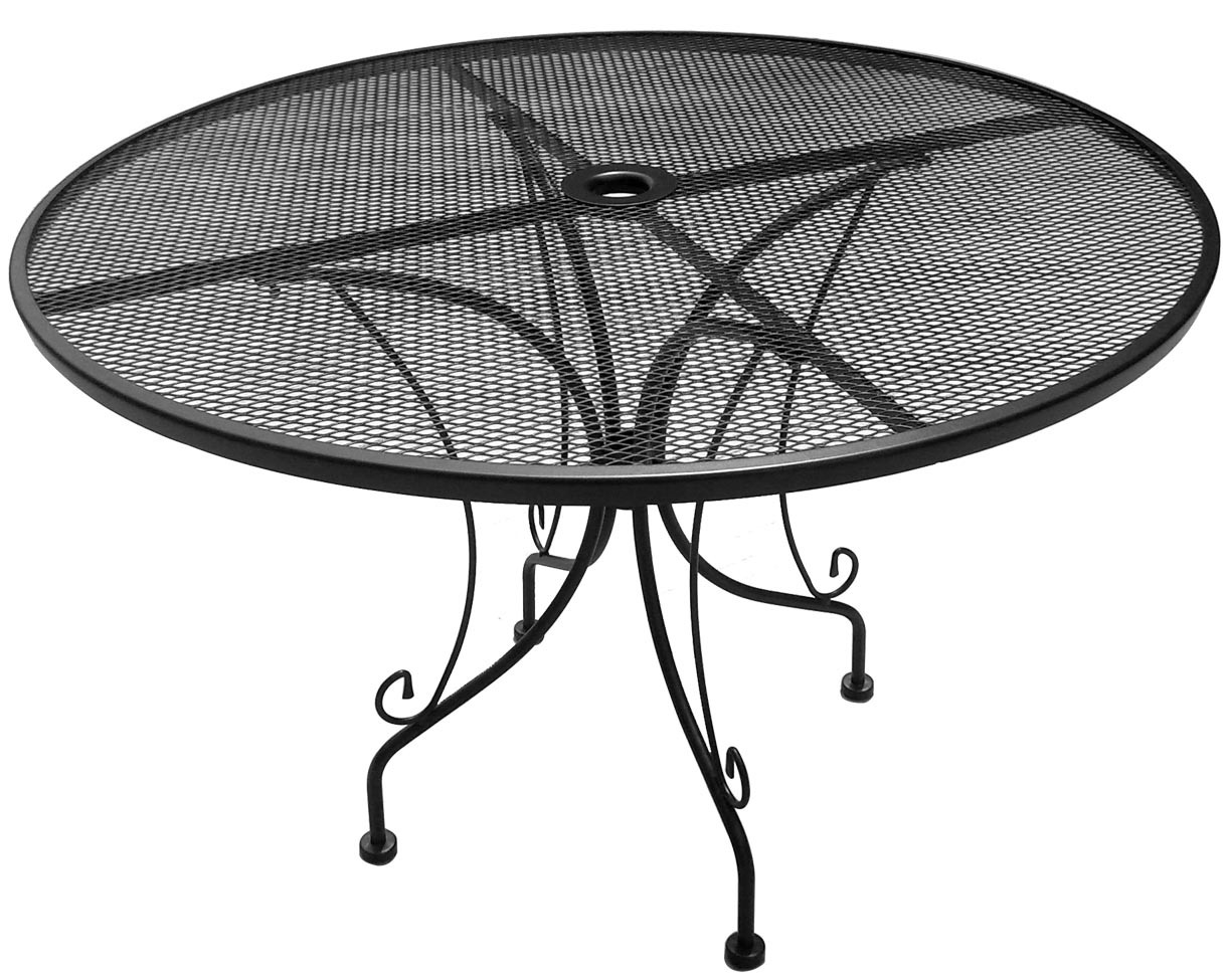 China metal furniture mesh table 021 im d107 china for Metal patio table