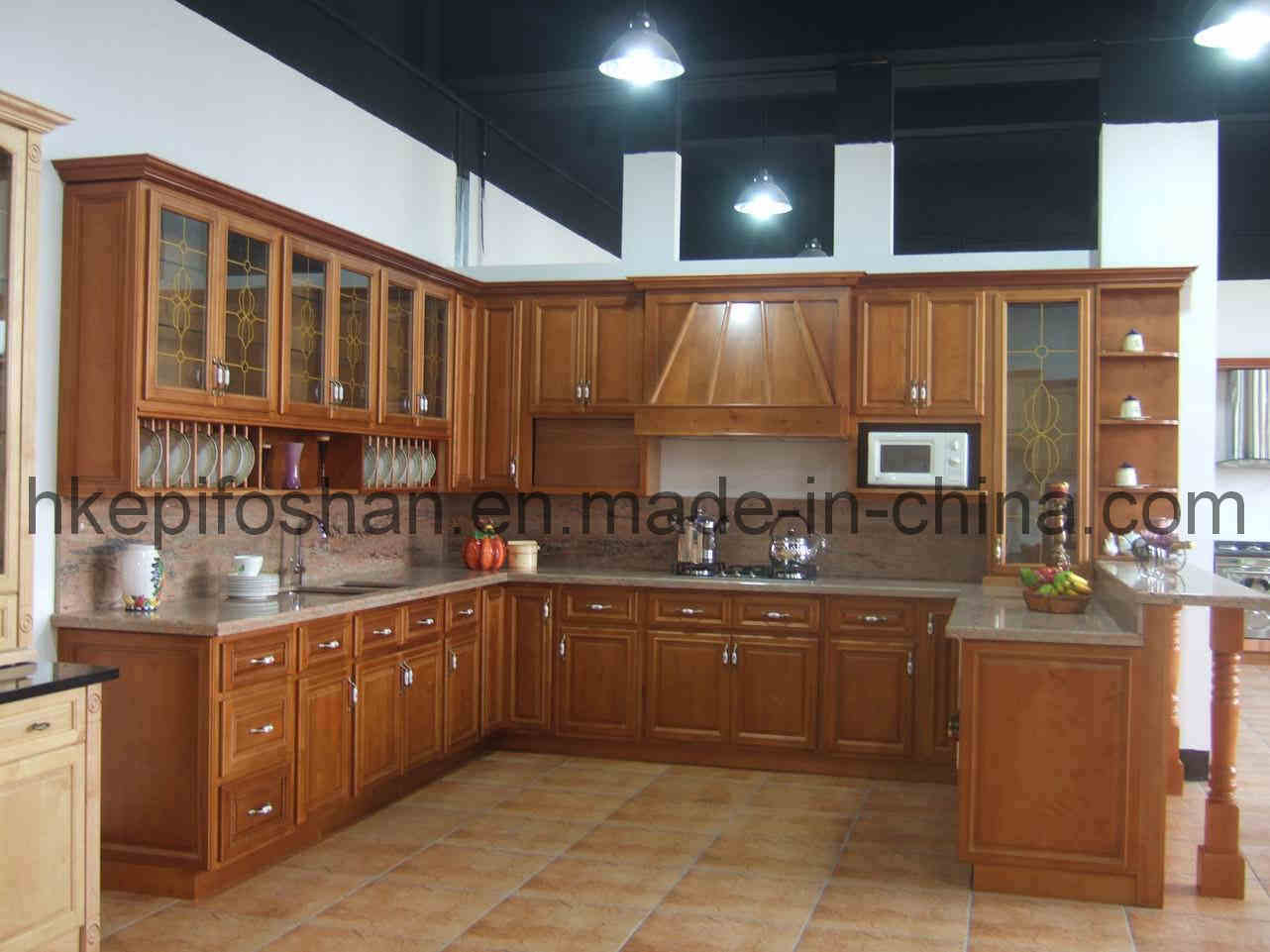 China kitchen cabinet kc 005 china kitchen cabinet for Chinese kitchen cabinets