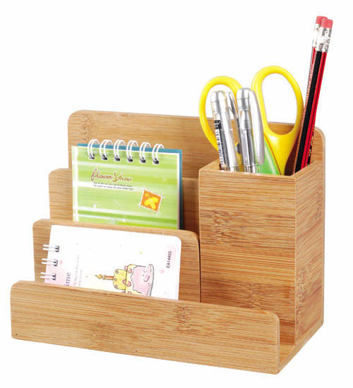 China bamboo desk organizer of 024 china bamboo desk organizer bamboo stationery holder - Bamboo desk organiser ...
