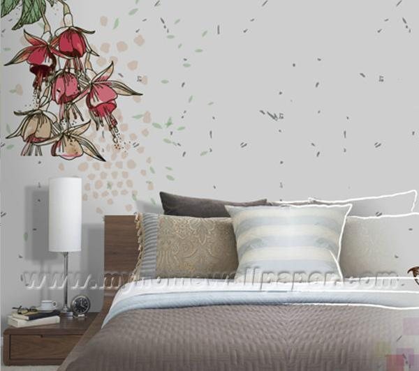 China D1 00013 X Women Flower Design Wall Murals   large image for