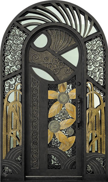 china metal door art deco fontaine china wrought