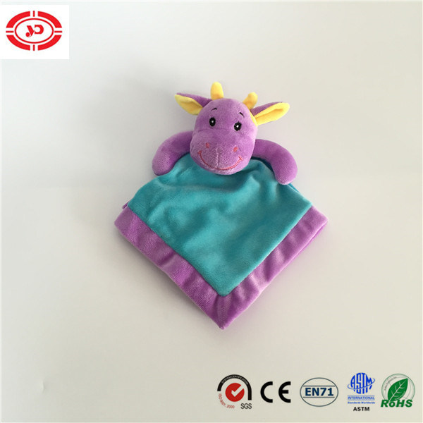 Purple Head Embroidered with Blue Body Baby Tender Wash Blanket
