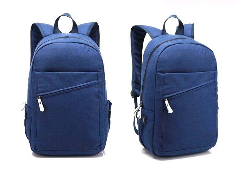School Bags Trendy Canvas Bag Backpack Sh-16061618