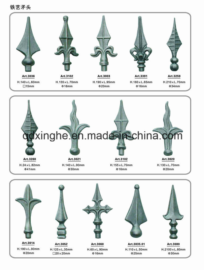 China cast iron ornamental fence parts photos pictures