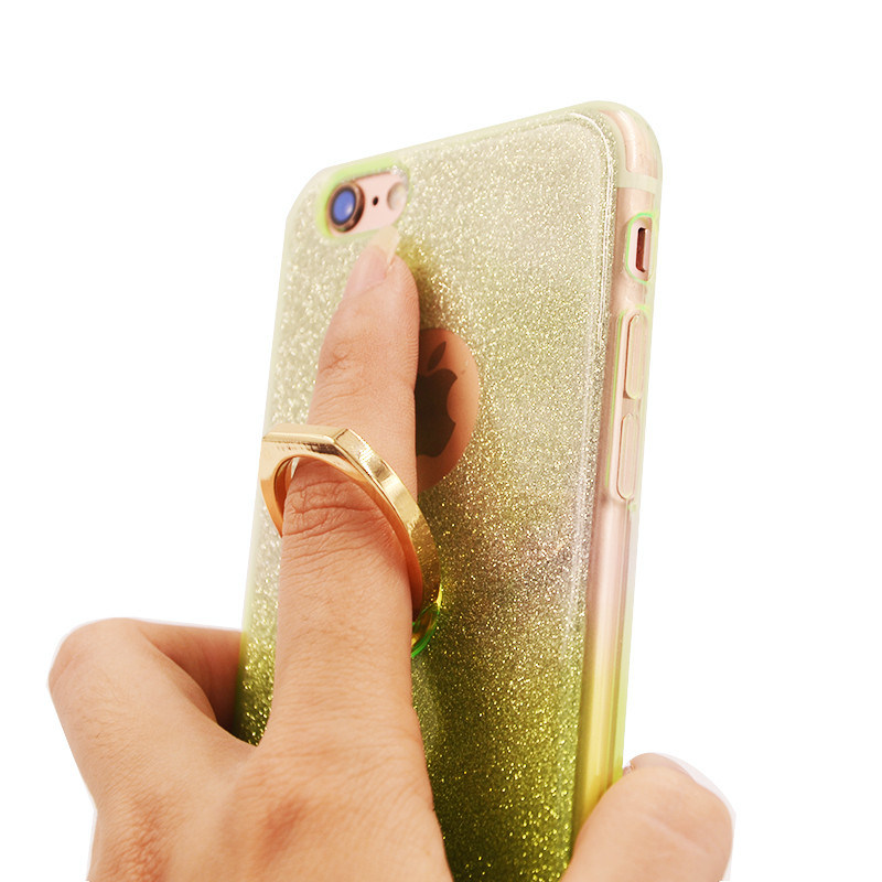 TPU with Ring Flash Powder Gradient Mickey iPhone 6 7 7plus Case (XSDD-034)