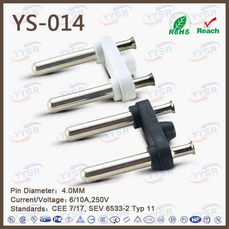 4.0mm MID-East Plug Insert (astern-Europe plug insert, AC adapter plug)