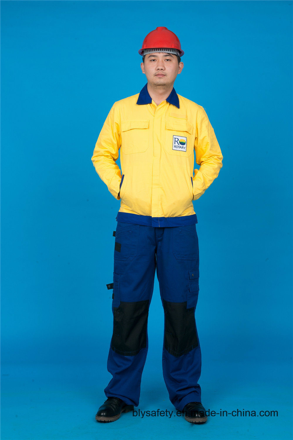 65% Polyester 35%Cotton High Quality Long Sleeve Safety Cheap Workwear Suit (BLY2008)