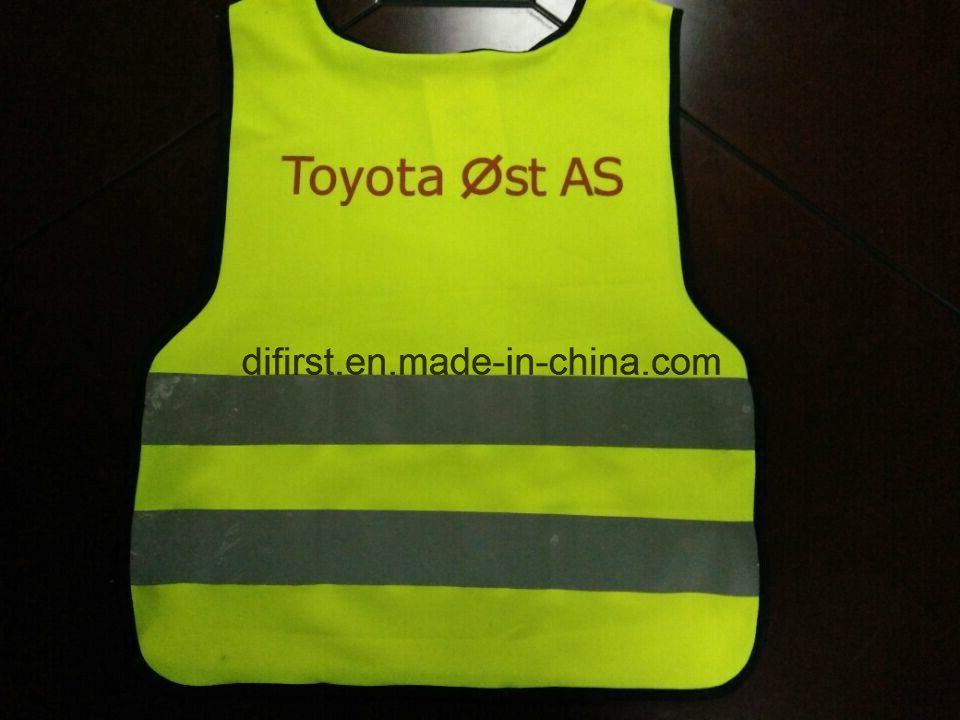 Safety Vest Flu Yellow 100%Polyester Knitting Fabric