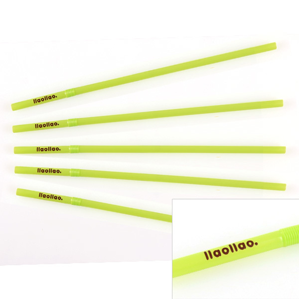 Plastic Drinking Straw with Logo Printing, Customized Ad Straw