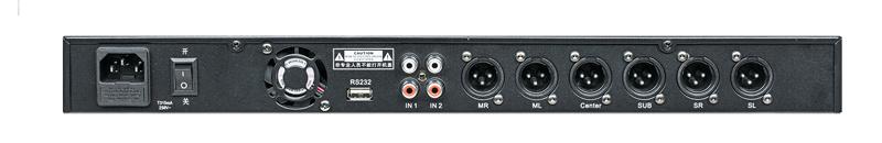 5.1 Channel KTV Digital Karaoke Pre-Amplifier Processor