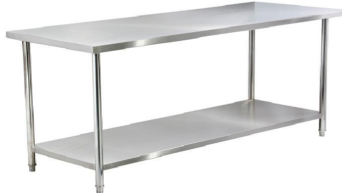 2 Tier Stainless Steel Worktable Without Backsplash