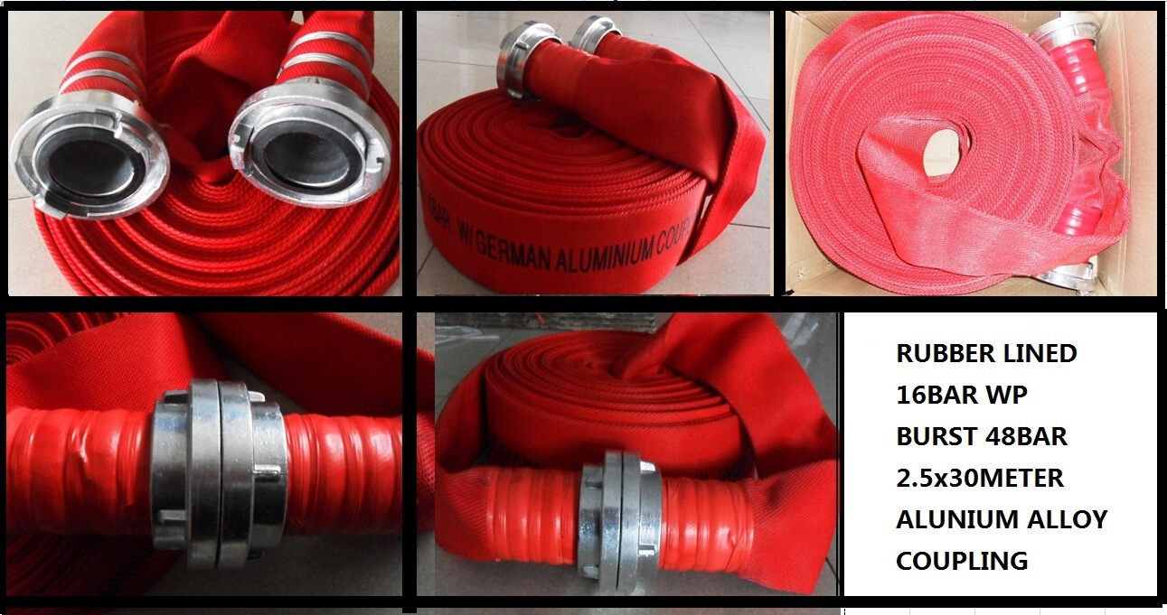 "13bar 65mm 2.5"" Red PVC Fire Hose"