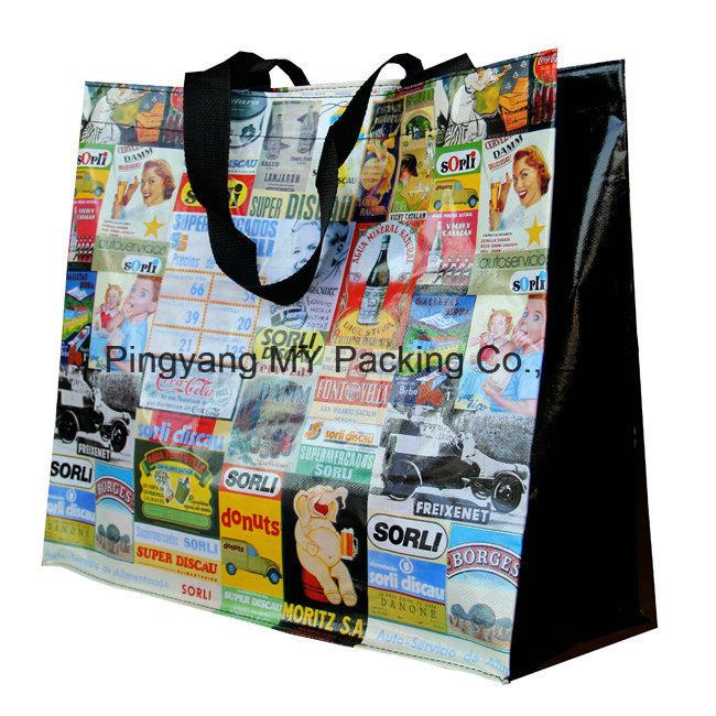 Professional Eco Friendly BOPP Laminated Non Woven Shopping Bag