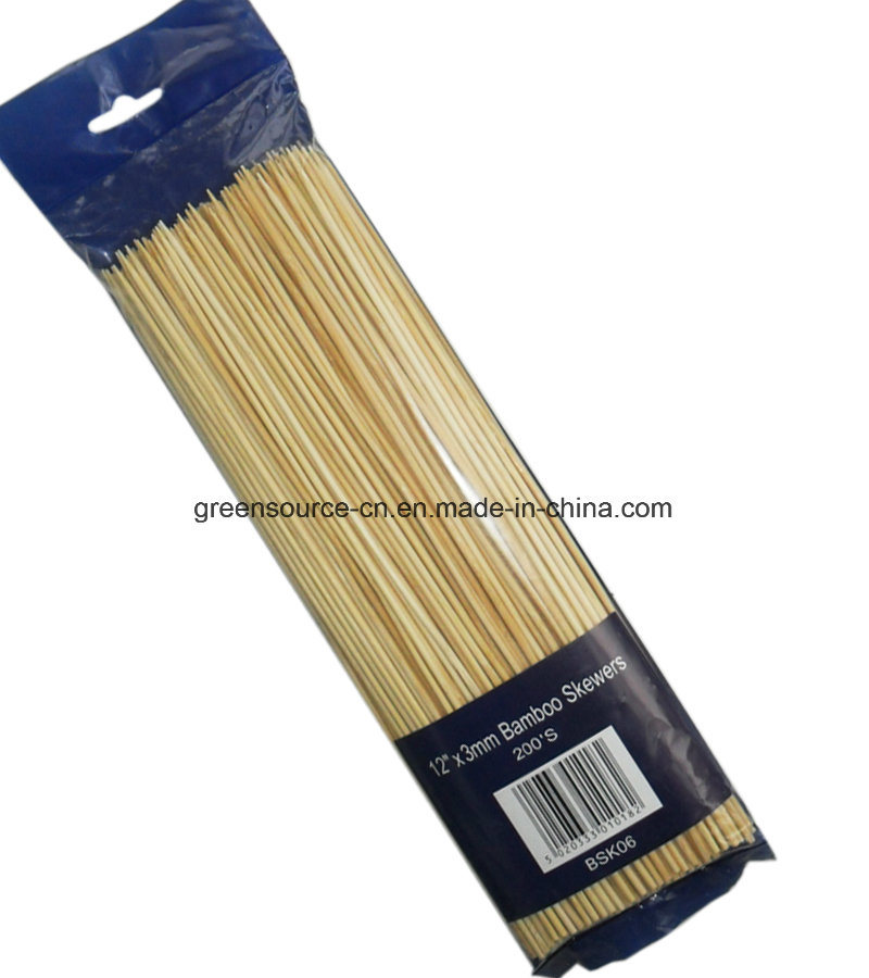 Bamboo Skewer / Bamboo Sticks / Barbecue Skewers