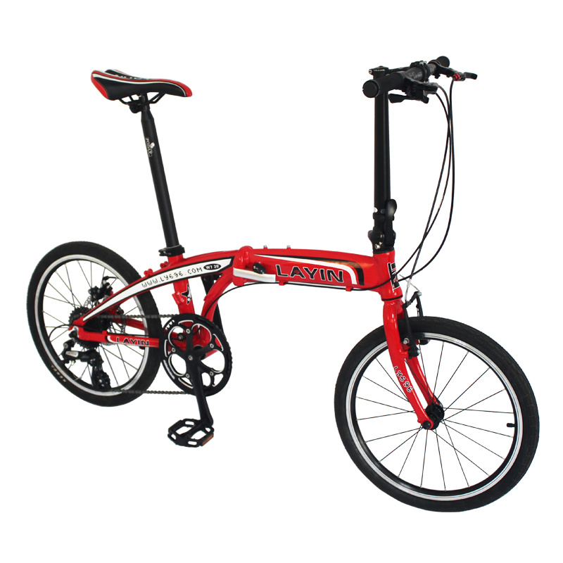 "Lightweight 8-Speed Shimano Altus Folding Bike 20"" Mini Bicycle"