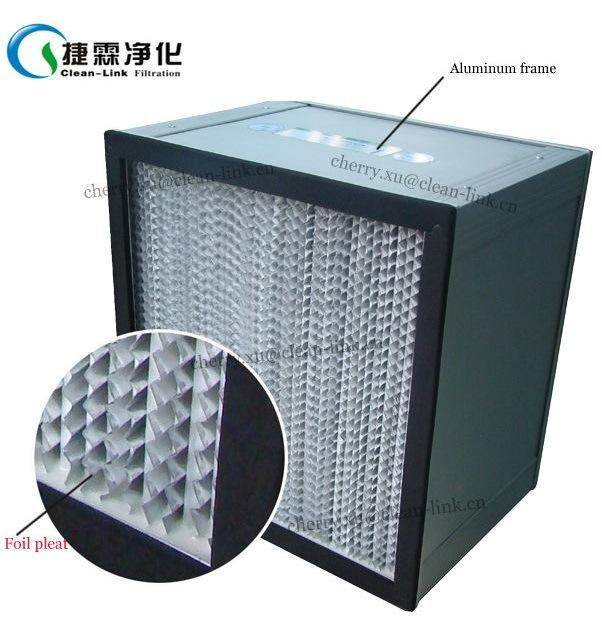 Aluminum Frame Pleat HEPA Filter/Panel Filter