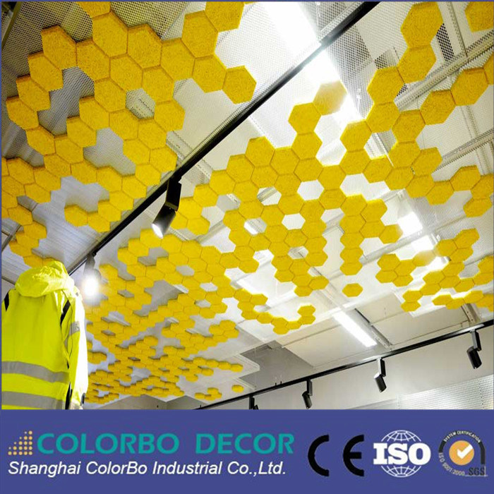 Soundproof Wood Wool Wall Acousic Panels for The Gym Ceiling