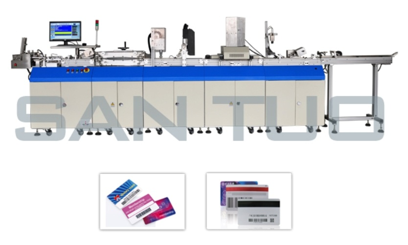 Magnetic Card Encoding and UV Printing Machine