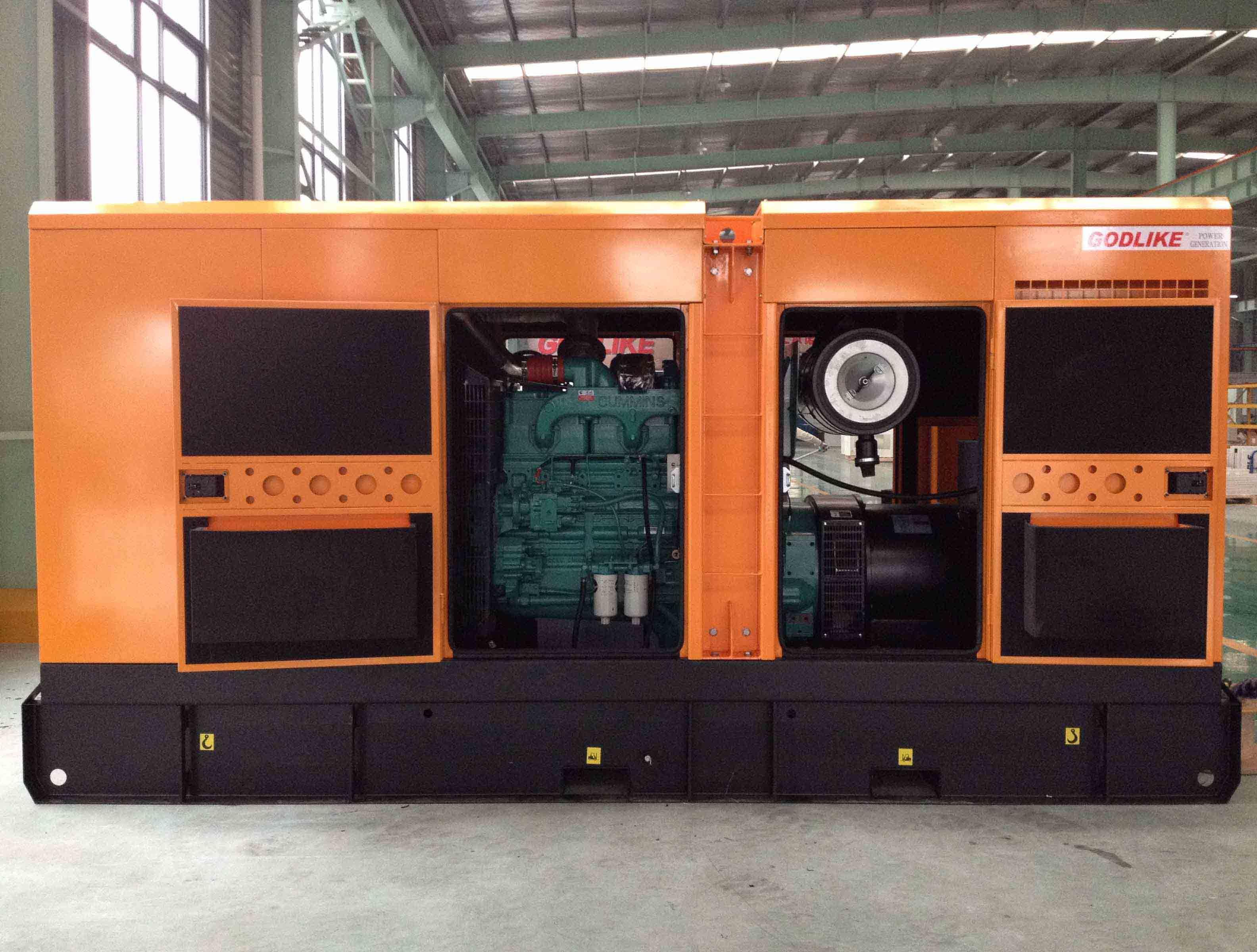 China 250kVA Silent Diesel Generator Electric Genset Famous Engine
