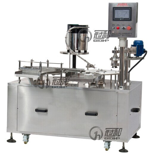 Automatic Liquid Filler with Capping Labeling for Various Bottles