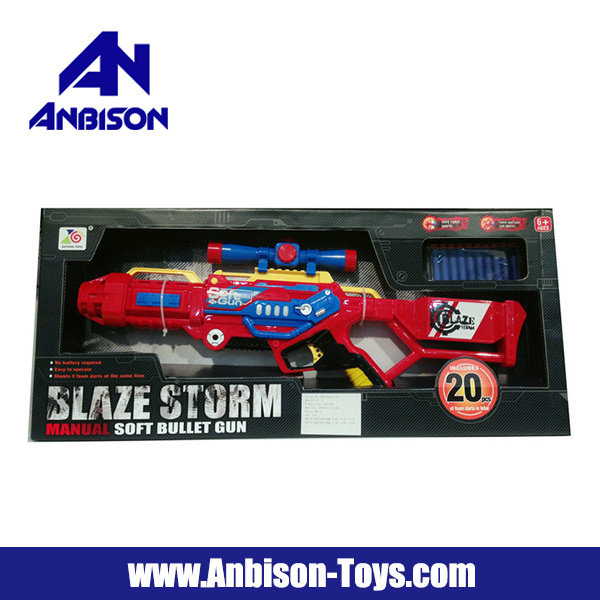 Blaze Storm Manual Soft Bullet Gun Toy
