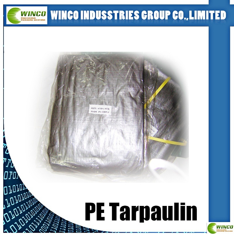 PE Tarpaulin Fabric for Covering, Waterproof PE Tarpaulin