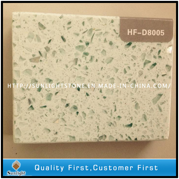 Mixed Color Aritificial Quartz Stone with Golden Diamond for Kitchen Countertop
