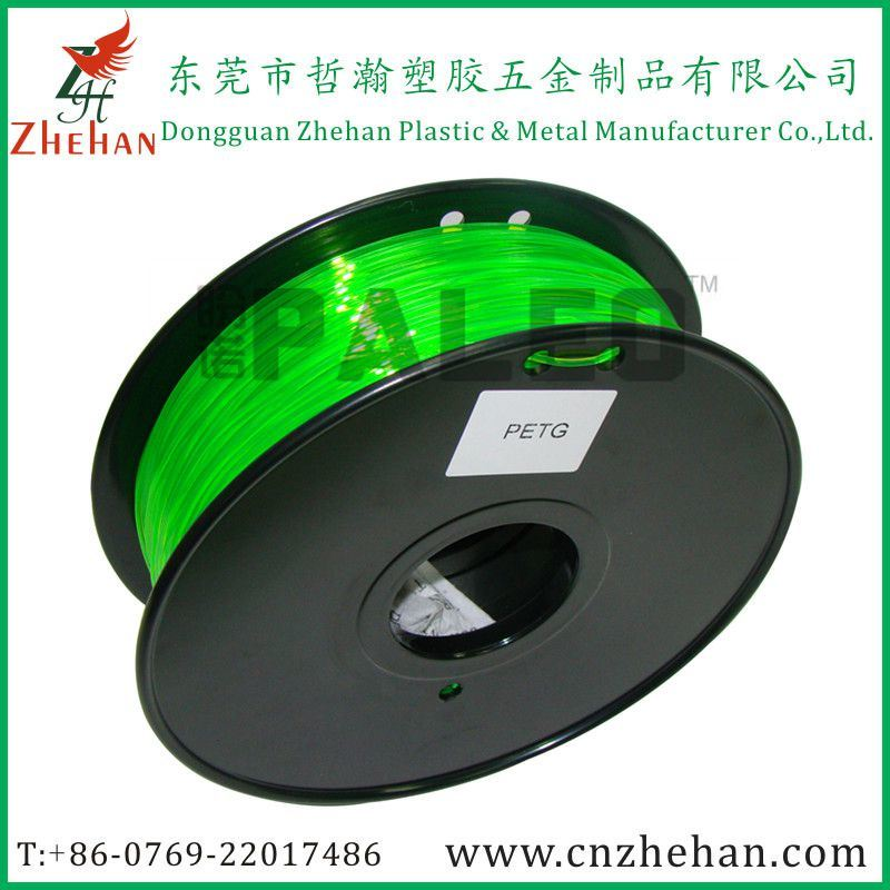 Green Color 3D Printer PLA PETG Filament 1.75mm/3mm Hot Sale