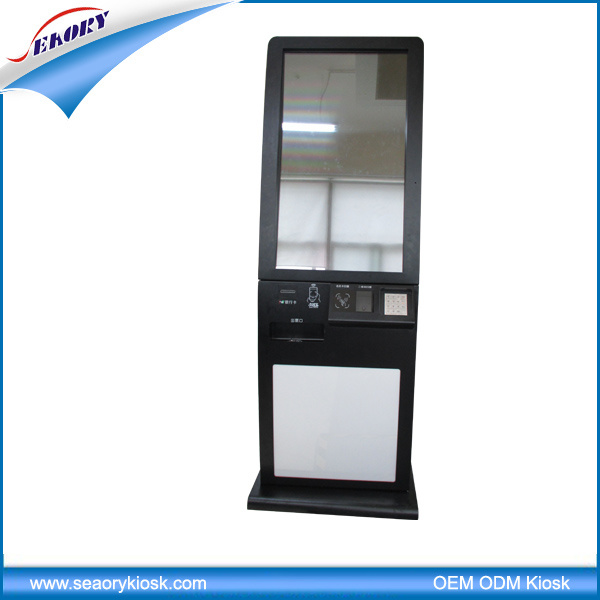 Most Popular Dual Screen Kiosk for Ticket Dispenser with Card Reader